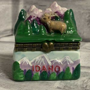 Trinket Box Idaho State Porcelain Travel Souvenir